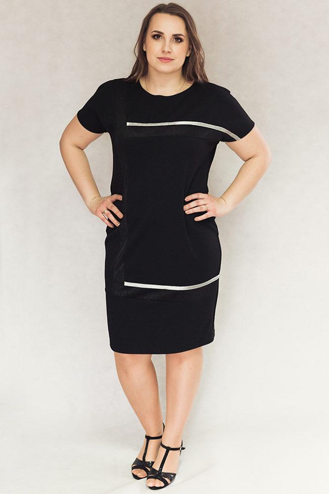 cb30ac9eea Suwaki Mix Czarna - Sukienki dla puszystych. Sklep internetowy z ...