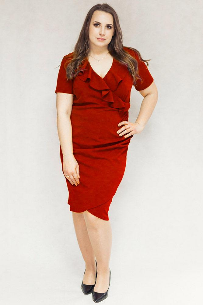 22088e202b Vivien czerwona - Sukienki dla puszystych. Sklep internetowy z ...