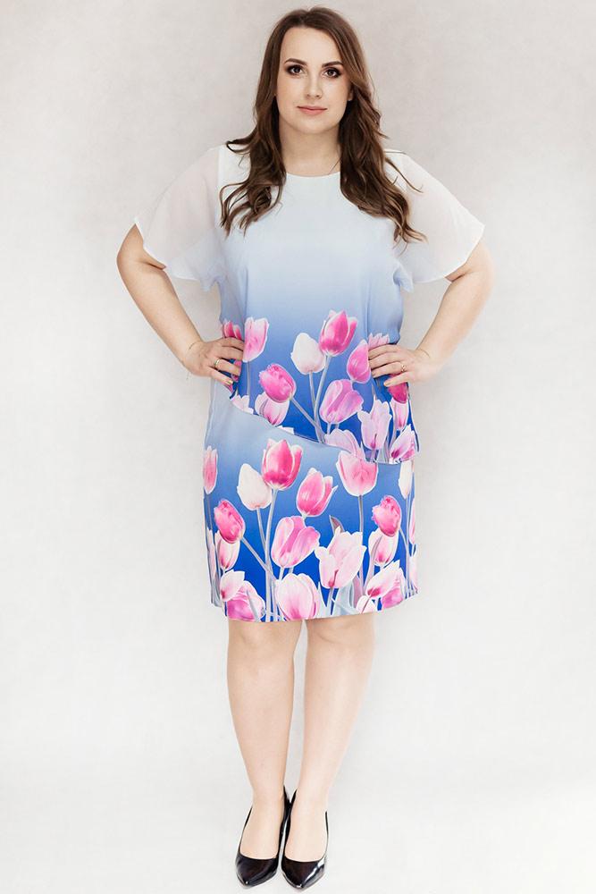 f9a7d0fc52 Tulipany chabrowa - Sukienki dla puszystych. Sklep internetowy z ...
