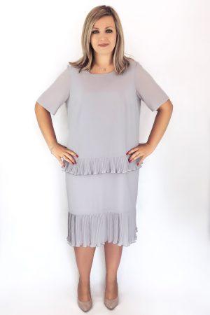 daria sukienka plisowanka szara midi