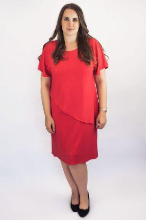 sukienka czerwona plus size
