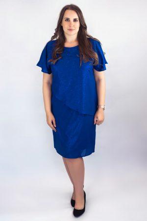 sukienka niebieska midi