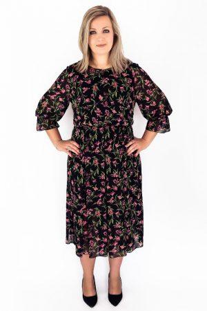sukienka plus size szyfonowa
