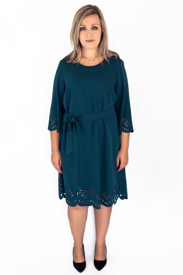 sukienka wycinana laserowo midi